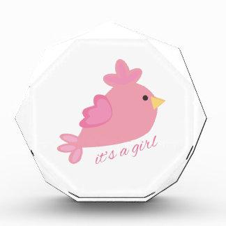 It's A Girl Acrylic Award