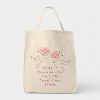 It's A Girl Baby Announcement Diaper Bag