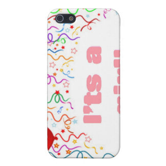 It's a girl! Baby Announcement iPhone SE/5/5s Case