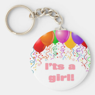 It's a girl!  Baby Announcement Keychain