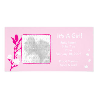It's A Girl! Baby Announcement Photo Greeting Card