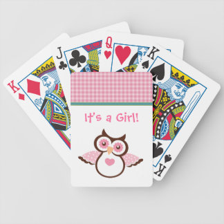 It's a Girl Baby Announcement Playing Cards