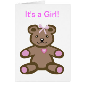 It's a girl - baby congratulations and welcome greeting card