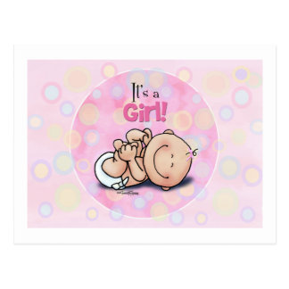 It's a Girl - Baby Congratulations! Postcard