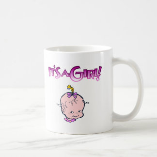 It's A Girl (Baby Face) Mugs
