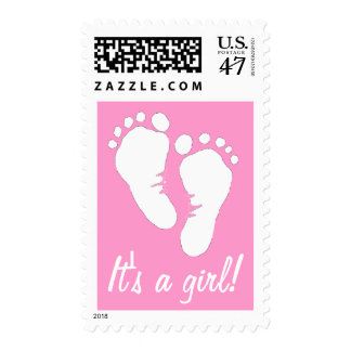 It's a Girl - Baby Footprints Postage