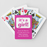 It's a girl! Baby Gender Reveal Cards Bicycle Card Deck