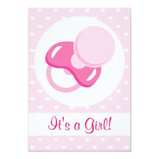 It's a Girl Baby Girl Design Custom Invitations