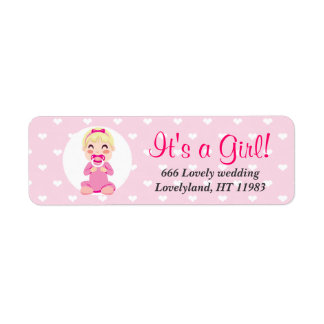 It's a Girl Baby Girl Design Label