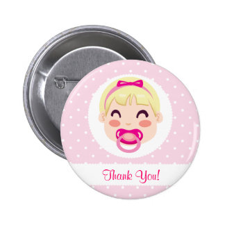 It's a Girl Baby Girl Design Pinback Button