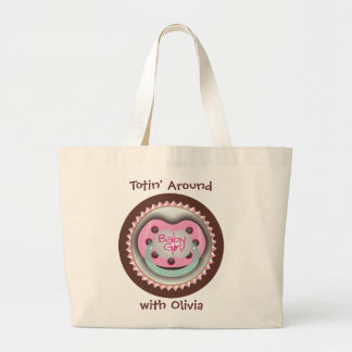 It's a Girl - Baby Girl Soother Large Tote Bag