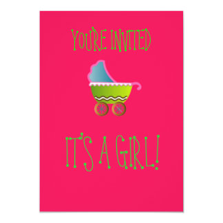 It's a Girl Baby Invitations! Card