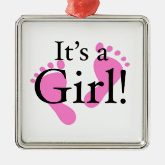 Its a Girl - Baby, Newborn, Baby Shower Metal Ornament