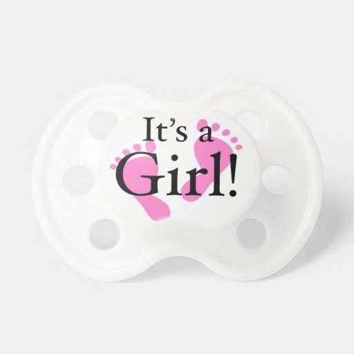 its a girl baby newborn baby shower pacifiers zazzle