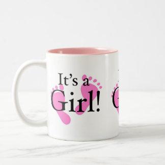 Its a Girl - Baby, Newborn, Baby Shower Two-Tone Coffee Mug