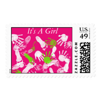 It's A Girl Baby Postage Stamp