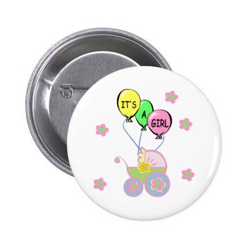 it 39 s a girl baby shower button