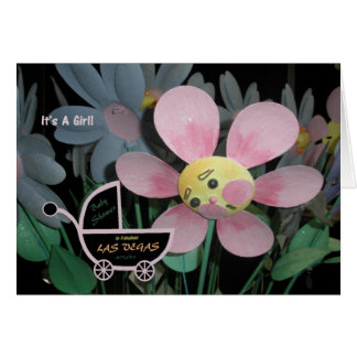 It's A Girl  Baby Shower in Las Vegas Card
