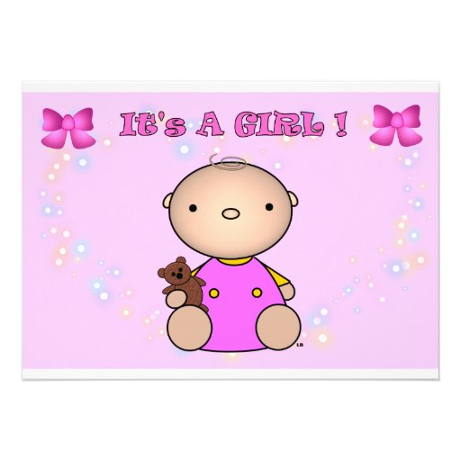 it 39 s a girl baby shower invitation 5 x 7 invitation card