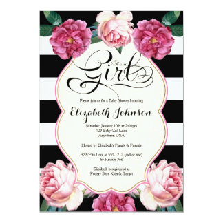 Itu0026#39;s A Girl Baby Shower Invitation