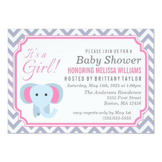 It's a Girl! Baby Shower Invitation