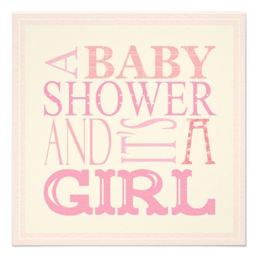 "It's a Girl Baby Shower Invitation 5.25"" Square Invitation Card"