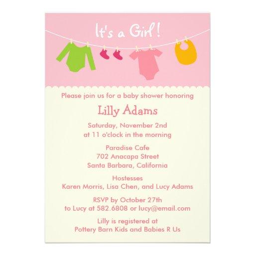 its a girl baby shower invitation rec50ebd3e8ba460c90f7bf43ab18c932