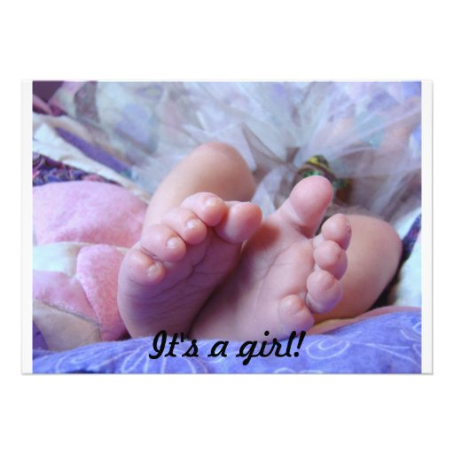 It's a girl! Baby Shower Invitations