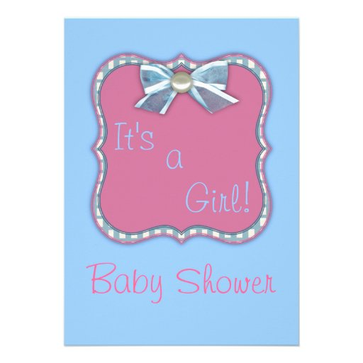 it 39 s a girl baby shower invitations zazzle