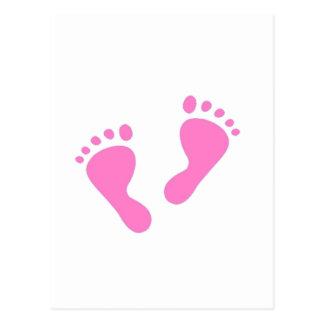 its a girl baby shower newborn postcard