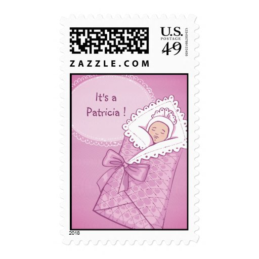 It's a Girl Baby Shower Postage Stamp.