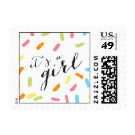 It's A Girl Baby Sprinkle Stamp