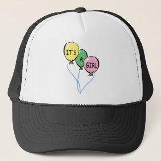 It's A Girl Balloons Trucker Hat