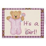 Its a Girl Bear Cards
