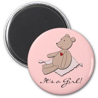"""It's a Girl"" Bear Magnet"