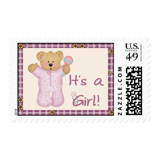 Its a Girl Bear Postage