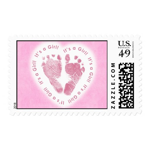 It's a Girl! Birth Announcement Postage