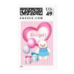 It's a Girl! Birth Announcement Postage Stamps