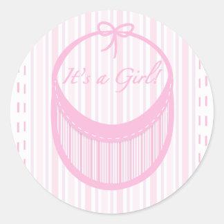 It's a Girl birth announcement sticker