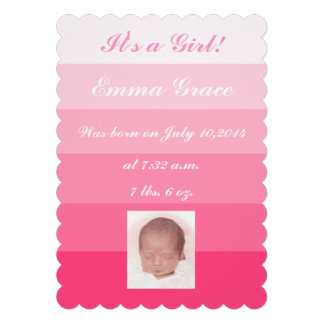 """It's a Girl!"" Birth Announcements"