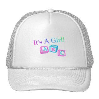 Its A Girl (Blocks) Trucker Hat