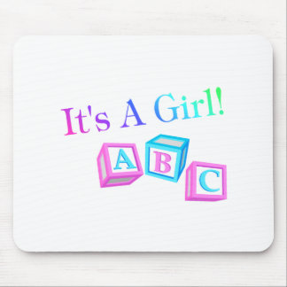 Its A Girl (Blocks) Mouse Pad