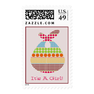 It's A Girl Boho Dots Bundle Baby Shower Stamps