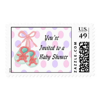 It's a Girl - Booties  Baby Shower Postage