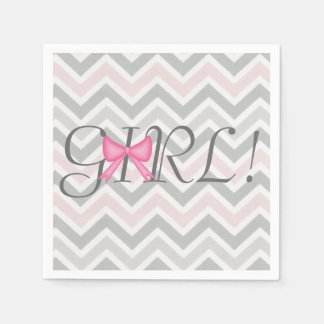 It's a Girl! Bow Themed Baby Shower Napkins