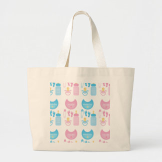 its a girl boy large tote bag