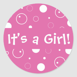 It's a Girl! Bubbles Envelope Sticker Seal