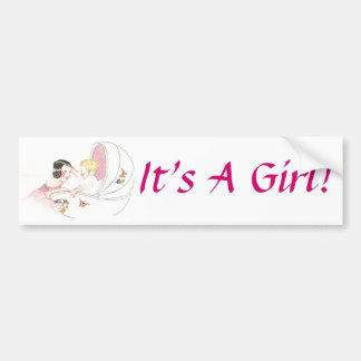 It's A Girl! Bumper Sticker