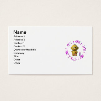 It's a girl! business card