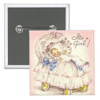 It's a girl! pinback buttons